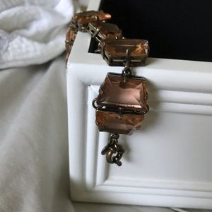 J Crew peach jeweled bracelet